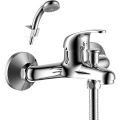 Смеситель настенный для ванны с душем Rossinka Y35-31 однорычажный хром