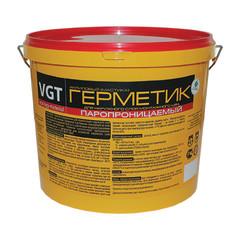 Герметик акриловый VGT пароизоляционный для внутренних и наружных работ однокомпонентный белый 15 кг