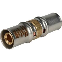 Муфта равнопроходная Stout для металлопластиковых труб 16x16 мм прессовой