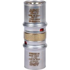 Муфта равнопроходная Stout для металлопластиковых труб 20x20 мм прессовой
