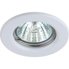 Точечный светильник Эра ST1 WH штампованный под лампу MR16 50 Вт белый