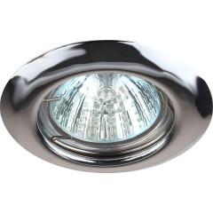 Точечный светильник Эра ST3 CH штампованный под лампу MR16 50 Вт хром
