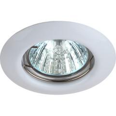 Точечный светильник Эра ST3 WH штампованный под лампу MR16 50 Вт белый