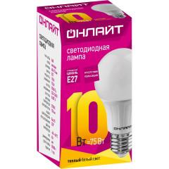 Лампа светодиодная Онлайт OLL-A60-10-230-6.5K-E27