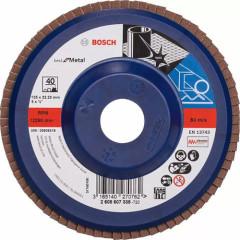 Круг прямой лепестковый Bosch Best for Metal 22.23 мм K40