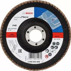 Круг прямой лепестковый Bosch Standard for Metal 22.23 мм K40