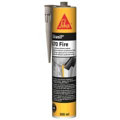 Герметик огнестойкий силиконовый Sikacryl Fire-670 серый 300 мл