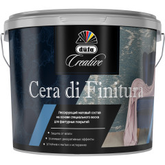 Декоративное покрытие лессирующее Dufa Creative Cera Di Finitura гладкое 1 л