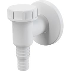 Сифон Alca Plast для стиральной и посудомоечной машины наружный пластик белый D 32x23 мм