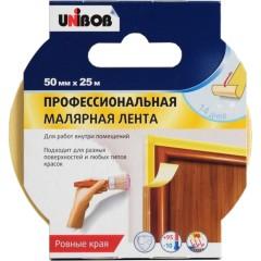 Лента малярная Unibob для внутренних работ 50 мм 25 м