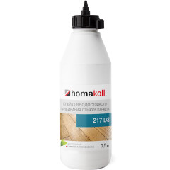 Клей Homakoll 217 водно-дисперсионный для стыков паркета 0.5 кг