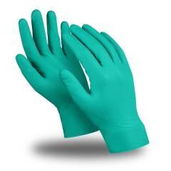 Перчатки защитные Manipula Specialist ЭКСПЕРТ ТЕХНО нитрил 0.17 мм зеленые размер 8, 25 шт.
