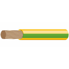 Провод установочный Prysmian ПуГВ 1x10 ГОСТ зелено-желтый, 1 шт = 1 м