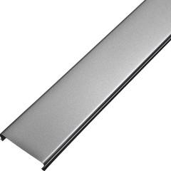 Реечный потолок Cesal Profi 3313 s-дизайн серый металлик серебристый 150х3000 мм