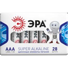Батарейка Эра ААА упаковка, 28 шт.