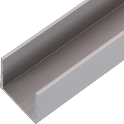 Швеллер алюминиевый 20х20х20х1.5х2000 мм серебро