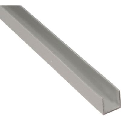 Швеллер алюминиевый 10х10х10х1.5х2000 мм серебро