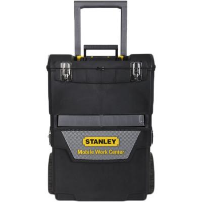 Ящик для инструмента Stanley IML Mobile Work Center 2 in 1 черно-серый металлопластмассовый 47.3х62.7х30.2 см ящик для инструмента stanley fatmax promobile job chest черно желтый металлопластмассовый 91х51 6х 43 1 см
