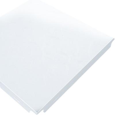 Кассета потолочная алюминиевая CESAL 600х600 мм Tegular 90° закрытая подвесная система Белая матовая