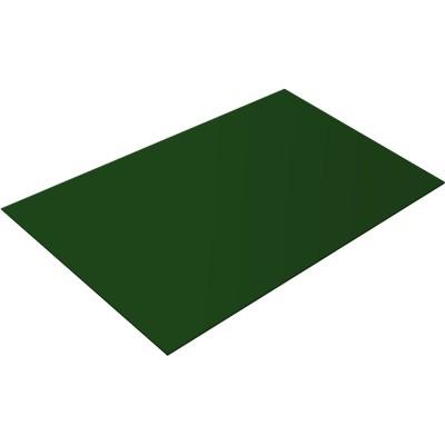 Плоский лист Grand Line 0.4 PE 1250 мм 2 м RAL 6005 зеленый мох