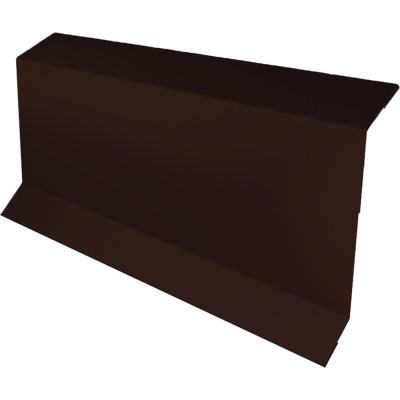 Планка примыкания в штробу 60 Grand Line 0.45 PE 2 м с пленкой RAL 8017 шоколад