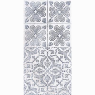 Настенная плитка ДЕКОР2 LB Ceramics КАМПАНИЛЬЯ серый 200х400х7 мм