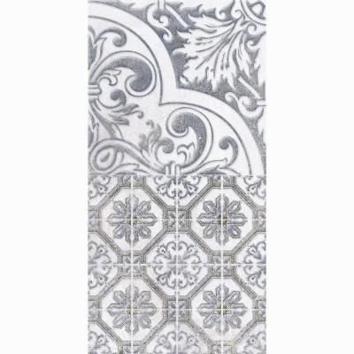 Настенная плитка ДЕКОР3 LB Ceramics КАМПАНИЛЬЯ серый 200х400х7 мм