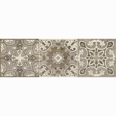 Керамогранит ДЕКОР LB Ceramics ТРАВЕРТИНО орнамент 200х600х10 мм