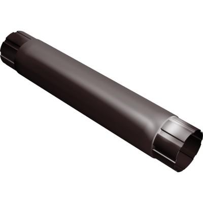 Водосточная труба круглая соединительная Grand Line 90 мм шоколад 0.5 мм, 1 м