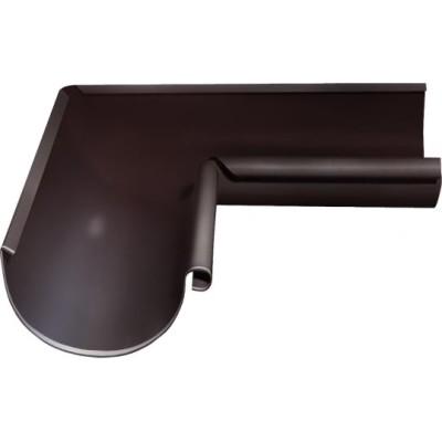Угол желоба внутренний Grand Line 90° 125 мм шоколад 0.6