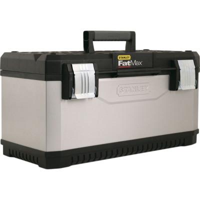 Ящик для инструмента Stanley FatMax серый металлопластмассовый 23 дюйма 58.4х29.3х29.5 см ящик для инструмента stanley fatmax promobile job chest черно желтый металлопластмассовый 91х51 6х 43 1 см
