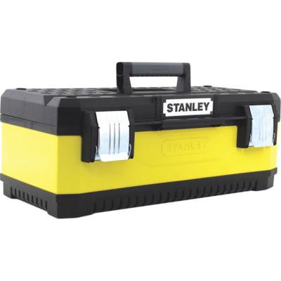 Ящик для инструмента Stanley желтый металлопластмассовый 23 дюйма 58.4х22.2х29.3 см ящик для инструмента stanley essential черно желтый металлопластмассовый 16 дюймов 40 6х20 5х19 5 см