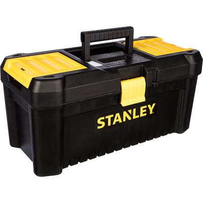 Ящик для инструмента Stanley Essential черно-желтый пластмассовый 16 дюймов 40.6х20.5х19.5 см ящик для инструмента stanley fatmax promobile job chest черно желтый металлопластмассовый 91х51 6х 43 1 см