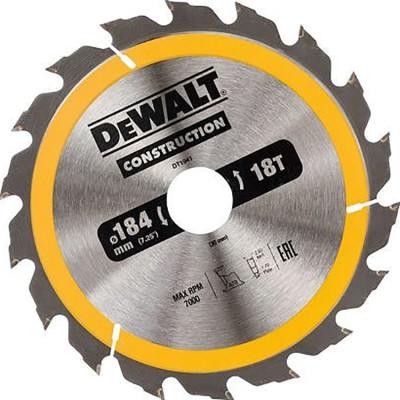 Фото - Пильный диск по дереву с гвоздями Dewalt Construction 190х30 мм 24 зуба DT1944-QZ диск dewalt construction пильный по дереву с гвоздями 250x30mm dt1956 qz