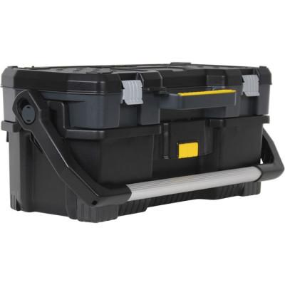 Ящик для инструмента Stanley черный металлопластмассовый 67х28.3х32.3 см ящик для инструмента stanley essential черно желтый металлопластмассовый 16 дюймов 40 6х20 5х19 5 см