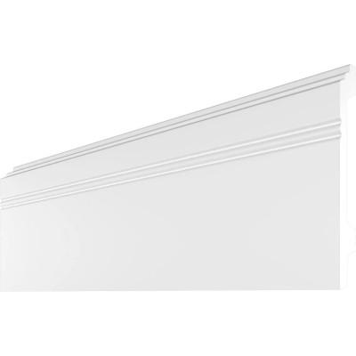 Плинтус напольный Де-Багет H профиль 12х2 см длина 2 м