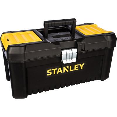 Ящик для инструмента Stanley Essential черно-желтый металлопластмассовый 16 дюймов 40.6х20.5х19.5 см ящик для инструмента stanley fatmax promobile job chest черно желтый металлопластмассовый 91х51 6х 43 1 см