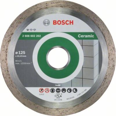 Диск отрезной Bosch Standard for Ceramic алмазный 125х22.23 мм 2608602202