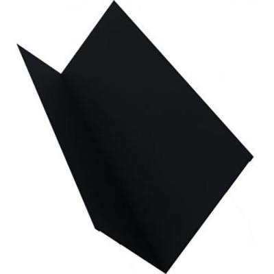 Планка примыкания для мягкой кровли Grand Line 20x45x15x10 мм 0.45 PE с пленкой RAL 9005 черная 2 м