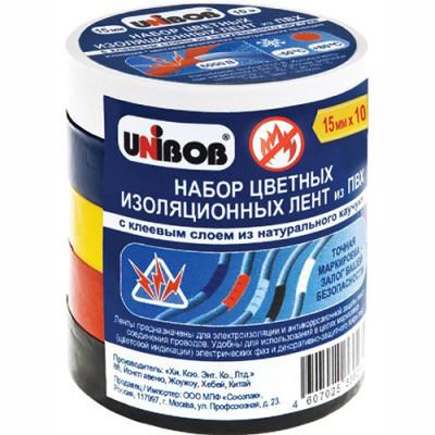 Изолента ПВХ Unibob 120 мкм 15 мм x 10 м, 5 шт. недорого