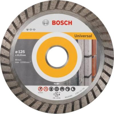 Фото - Диск отрезной Bosch Standard for Universal Turbo алмазный 125х22.23 мм 2608602394 диск алмазный отрезной bosch standard for universal turbo 2608602395 150 мм 1 шт