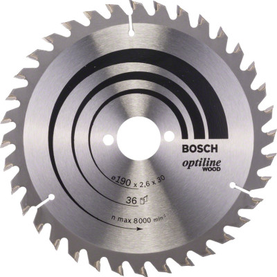 Диск пильный Bosch Optiline Wood 190х30 мм 36 зубьев 2608640616
