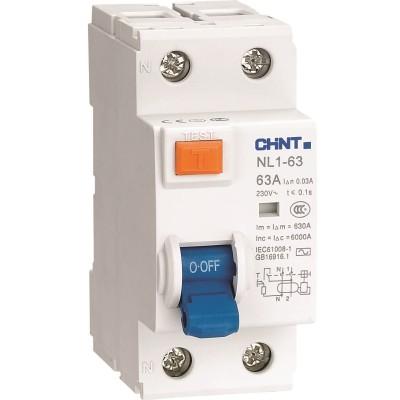 Устройство защитного отключения Chint NL1-63 6kA 2P 63A 30mA тип AC (DB)