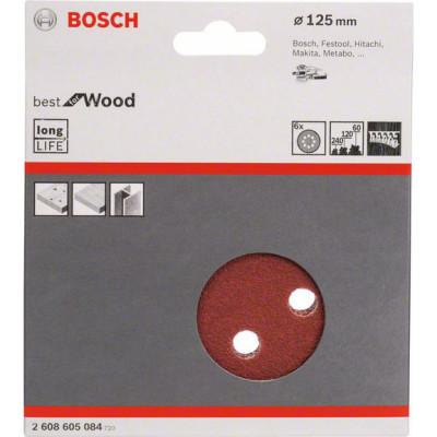 Фото - Набор шлифовальных листов Bosch C470 Best for Wood and Paint D125 мм К60/120/240, 6 шт. 2608605084 шлифкруг bosch 125мм к40 50шт best for wood paint 2 608 607 824