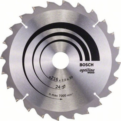 Диск пильный Bosch Optiline Wood 216х30 мм 24 зуба 2608640431