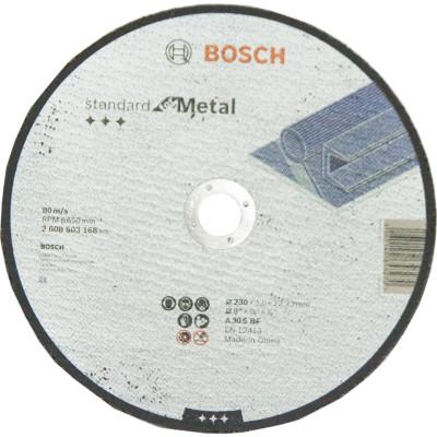 Диск отрезной Bosch Standard по металлу 230х3.0 мм прямой 2608603168 коронка по металлу bosch standard 56 мм 2 608 584 848