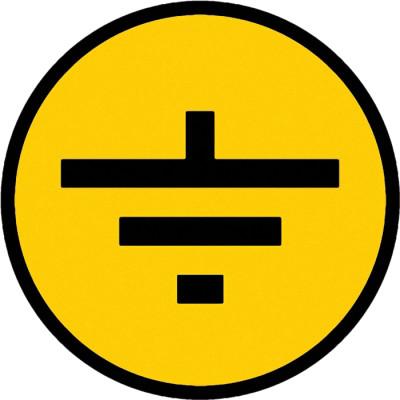 Самоклеящаяся этикетка IEK Заземление 30x30 мм желтая