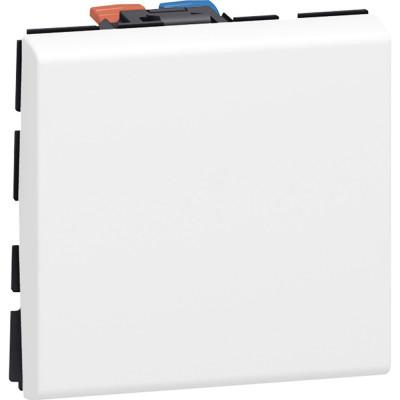 Выключатели Legrand Mosaic 10 AX 250 В~ 2 модуля белый 077010