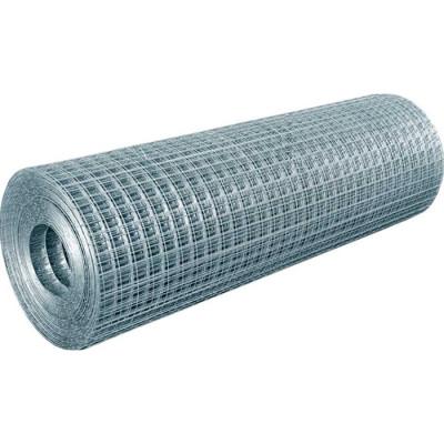 Сетка сварная отделочная 0.6 мм оцинкованная 10x10 мм 1x15 м