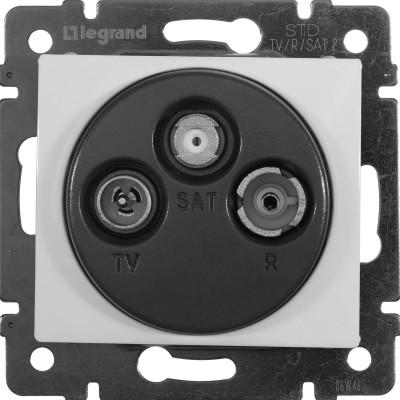 Розетка TV-FM-SAT Legrand Valena звезда 1.5 дБ 2400 МГц белый розетка tv fm sat 1 5db звезда алм vln